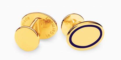 Deumer Manschettenknopf oval linsig Gold