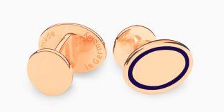Deumer Manschettenknopf oval linsig Rosègold
