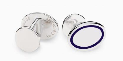 Deumer Manschettenknopf oval linsig Silber