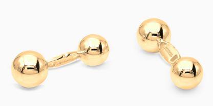 Deumer-Manschettenknopf-Kugeln-Gold