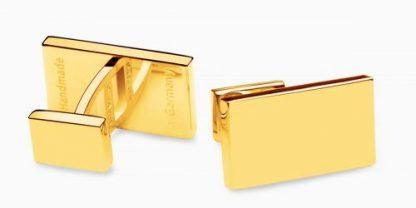 Deumer Manschettenknopf rechteck Gold