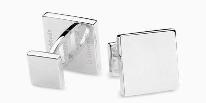Deumer Manschettenknopf quadrat Silber