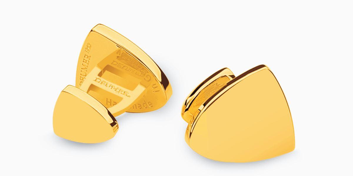 Deumer Manschettenknopf Wappen Gold