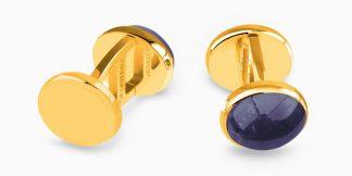 Deumer Manschettenknopf oval Cabochons Gold