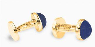 Deumer Manschettenknopf rund Cabochons Gold