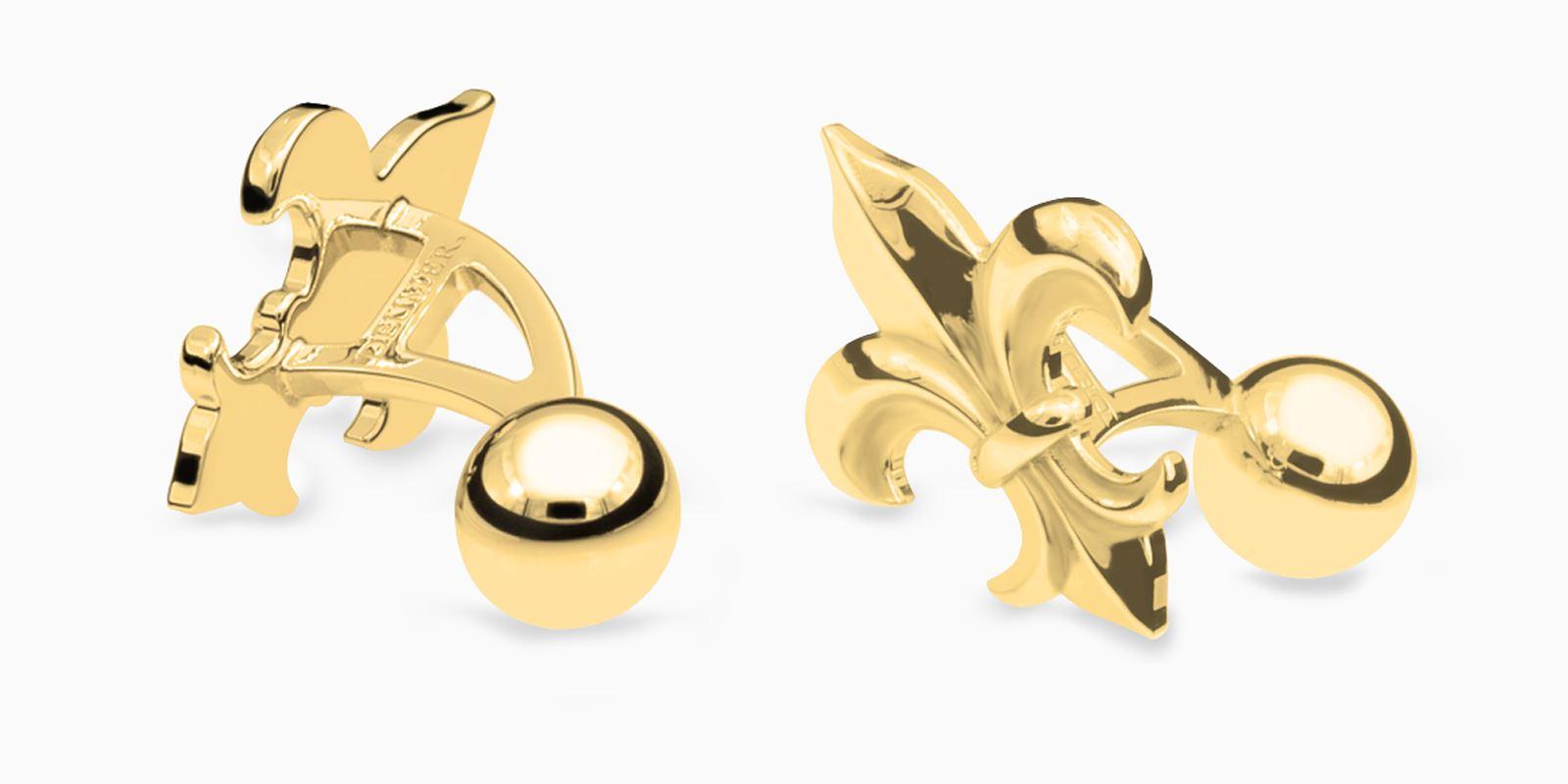 Deumer-Manschettenknopf-Lilie-Gold