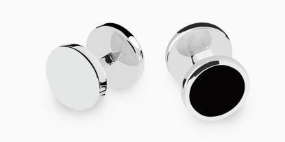 Deumer-Smokingknopf-Onyx-Silber