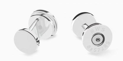 Deumer-Manschettenknopf-Patrone-Silber